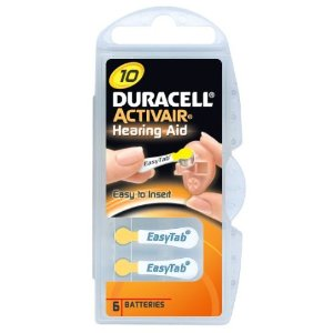 Duracell Activair Size 10 Hearing Aid Batteries