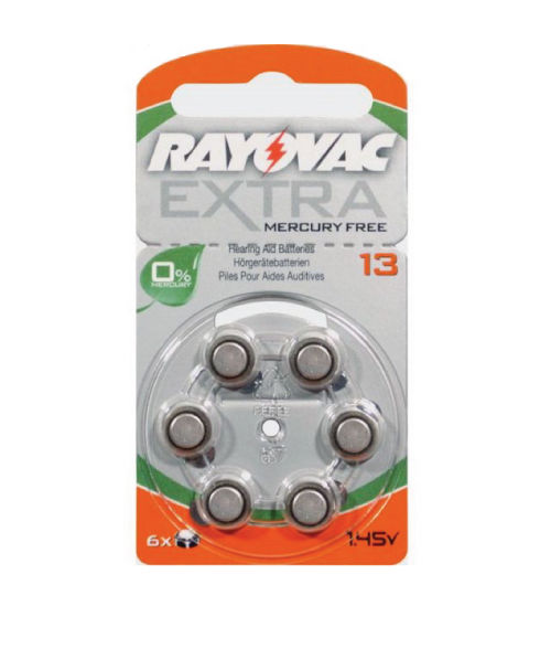 Rayovac Extra Size 13 Mercury Free Hearing Aid Batteries