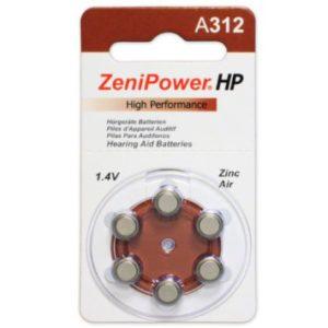 ZeniPower Size 312 Hearing Aid Batteries