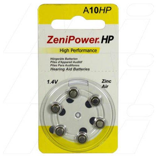 ZeniPower Size 10 Hearing Aid Batteries