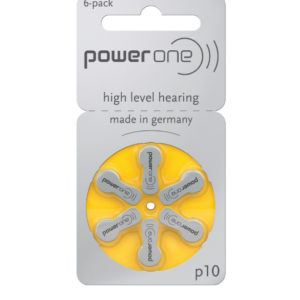 Power One Size 10 Hearing Aid Batteries