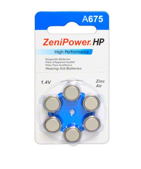 ZeniPower Size 675 Hearing Aid Batteries