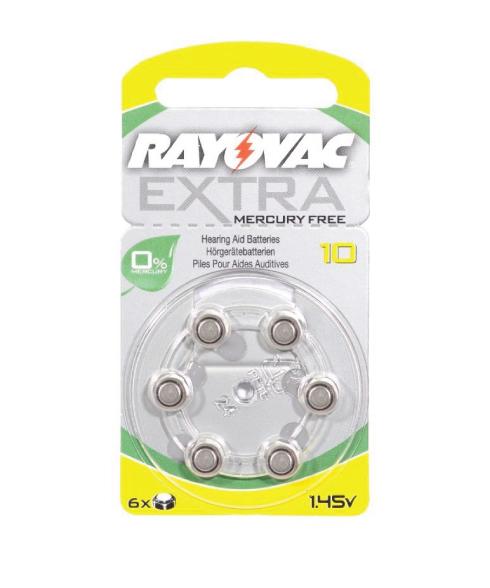 Rayovac Extra Size 10 Mercury Free Hearing Aid Batteries