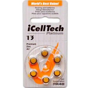 iCellTech Size 13 Hearing Aid Batteries